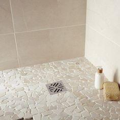 Galets sol et mur Opus crème | Leroy Merlin | Salle de bain by Mo ...