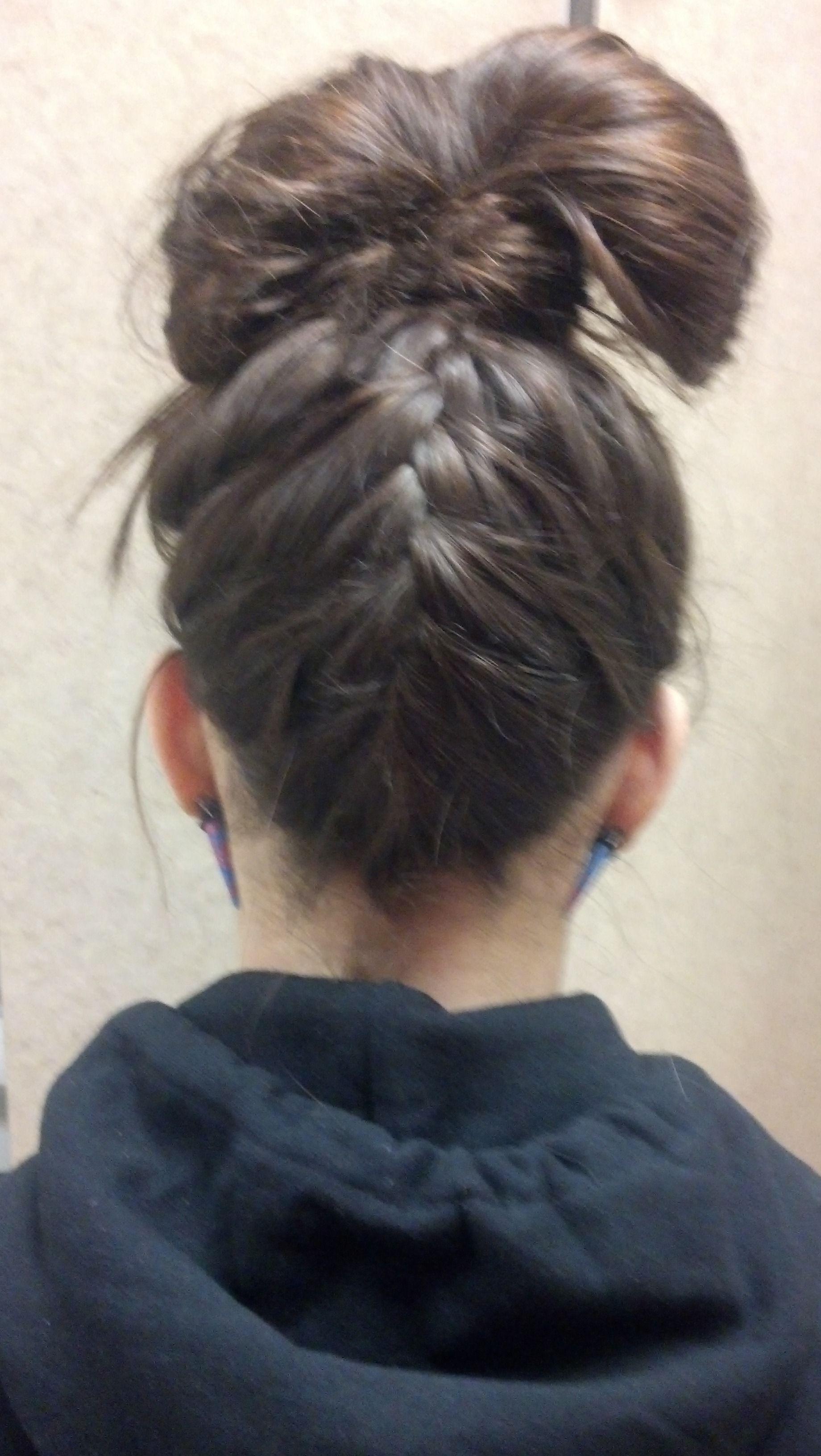 Cute for Katie!! braid up with a california bun   Cute ...