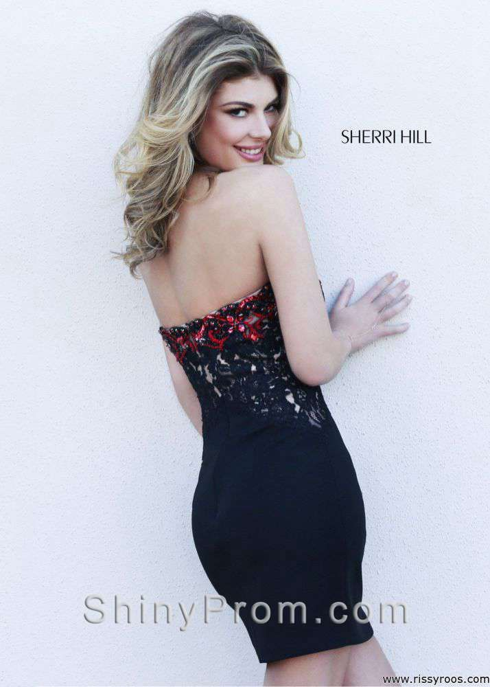 Sherri Hill 32032 Black, Ivory, White Dress