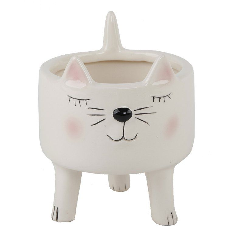 Osblek Cute Cat Pot Planter Reviews Joss Main Planter Pots Animal Planters Decorative Planters