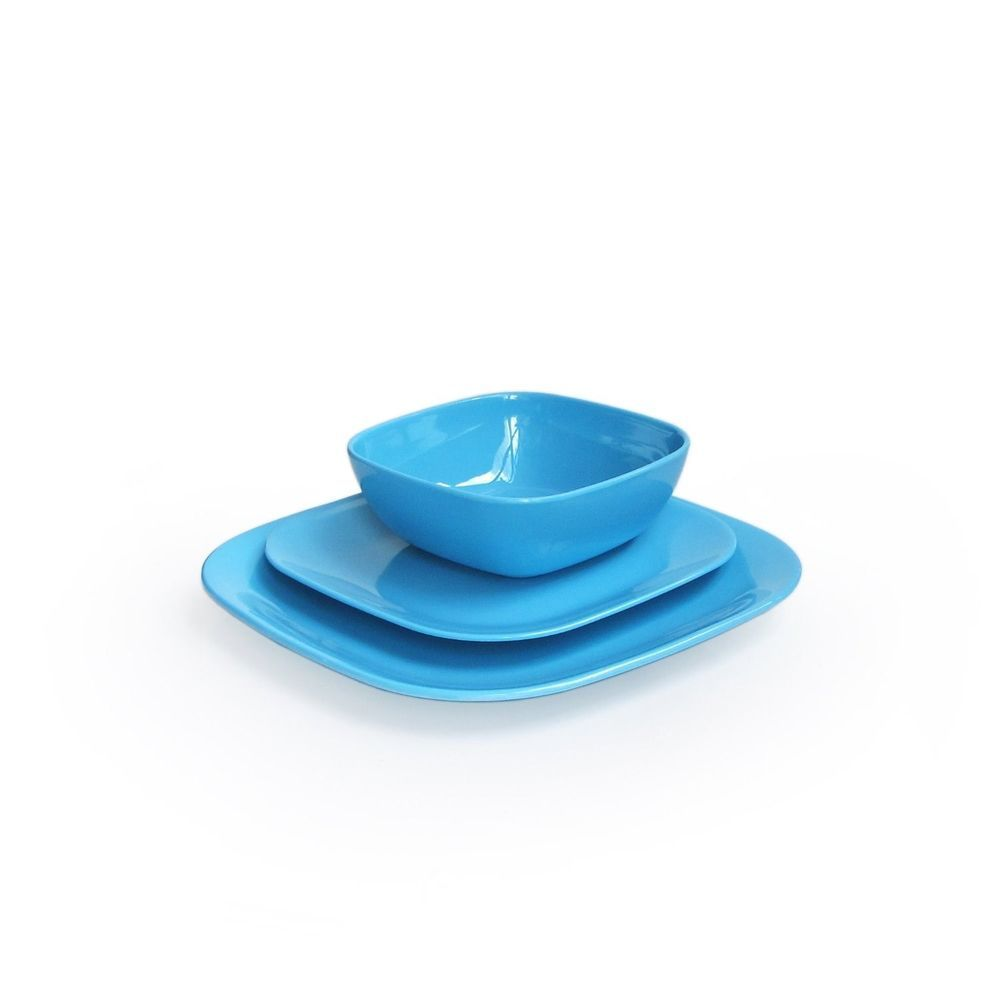 American Atelier Square 12-Piece Dinnerware Set Blue (melamine) #AmericanAtelier  sc 1 st  Pinterest & American Atelier Square 12-Piece Dinnerware Set Blue (melamine ...