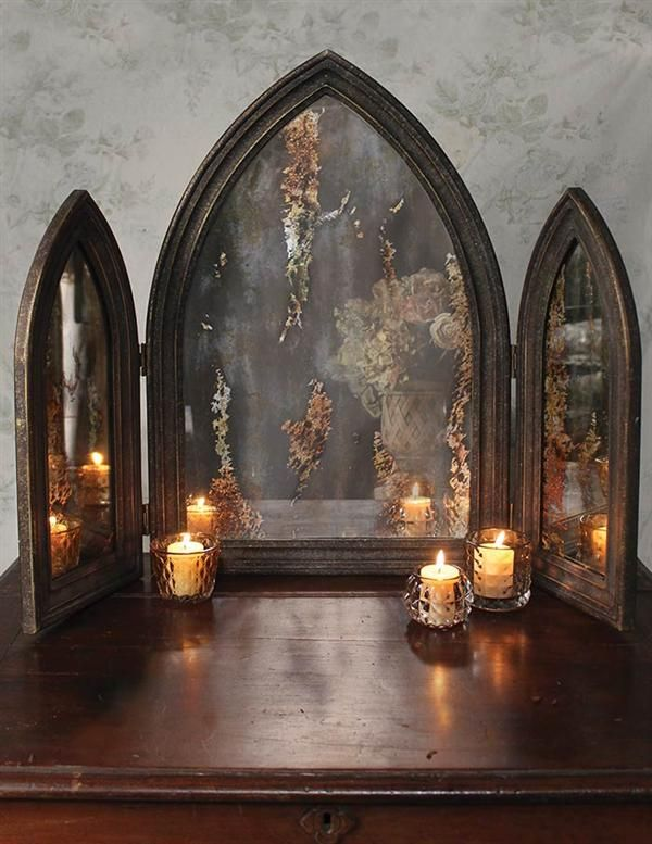 Love this gorgeous gothic triptych mirror from victorian trading co ♥