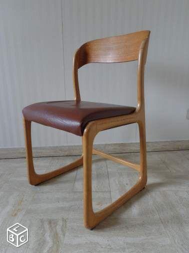 1 Chaise Vintage Baumann Forme Traineau Ameublement Isere Leboncoin Fr Chaise Vintage Chaises Baumann Chaise