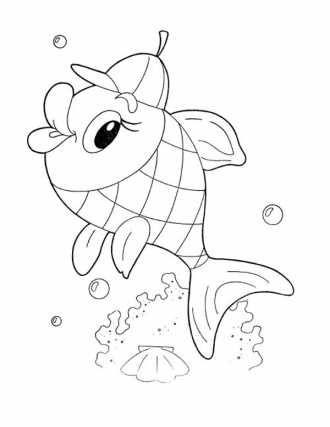 рыбка, раскраска для маленьких, разукрашка рыбка скачать ...