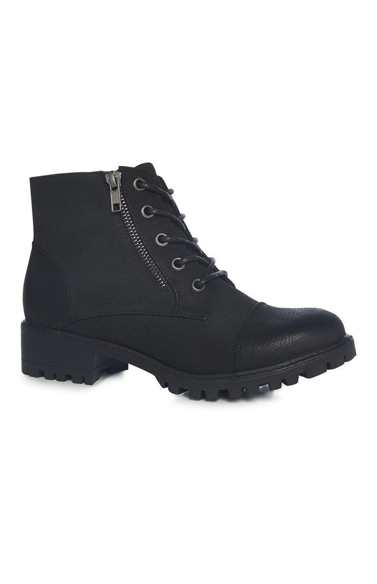 Botas militares com fecho preto