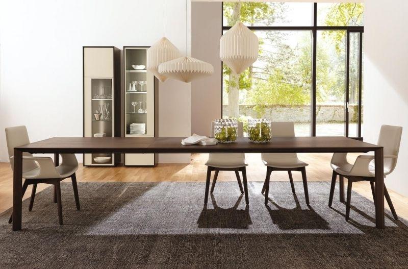 Scopia Hulsta Table De Repas En Bois Avec Allonges Chaise Cuir Pour