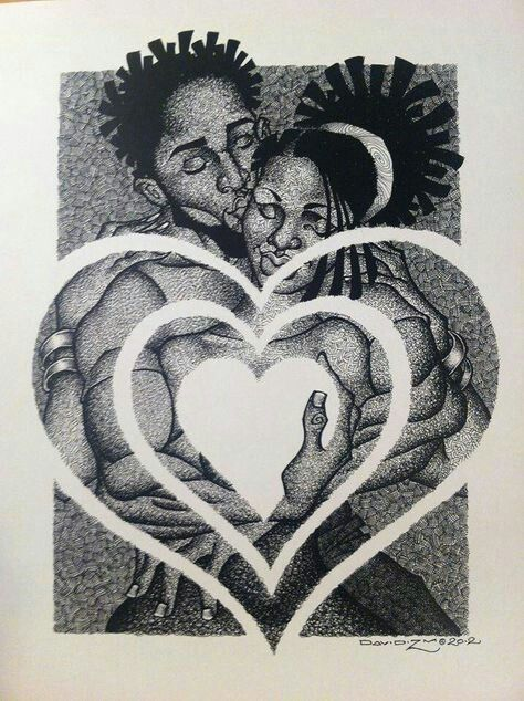 Explore black couples art drawings and more