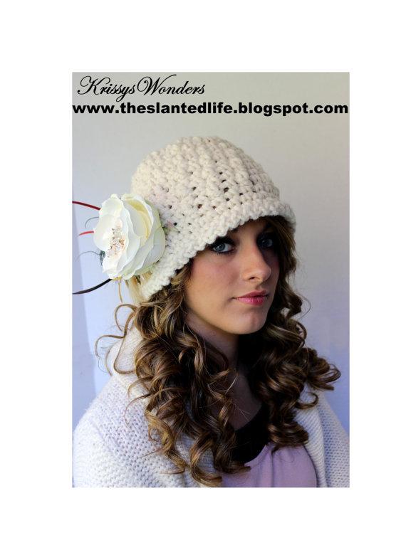 Crochet Hat Pattern Womens Cloche Crochet Pattern Flapper Hat With