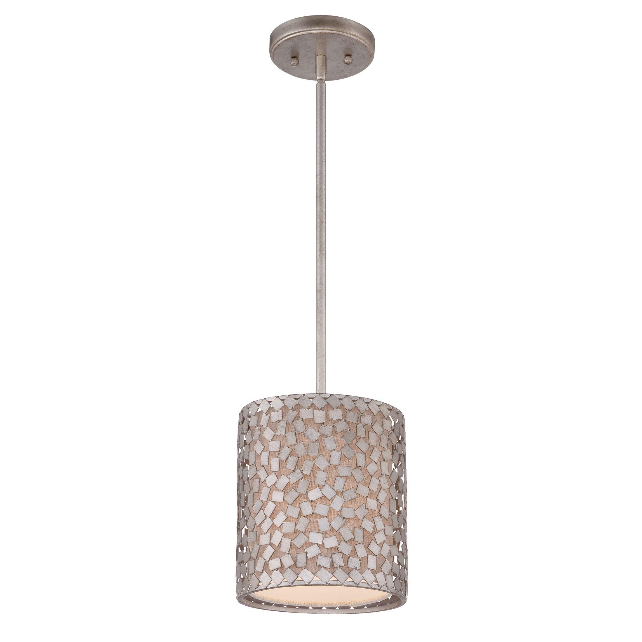 Quoizel uconfettiu light minipendant old silver metal mini