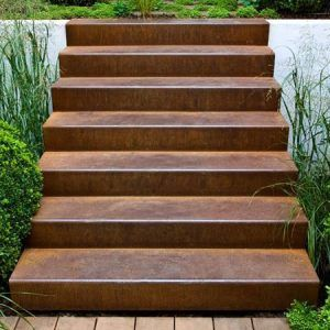 Best Corten Steel Weathered Stairs · Stylish Outdoor Steps From 400 x 300