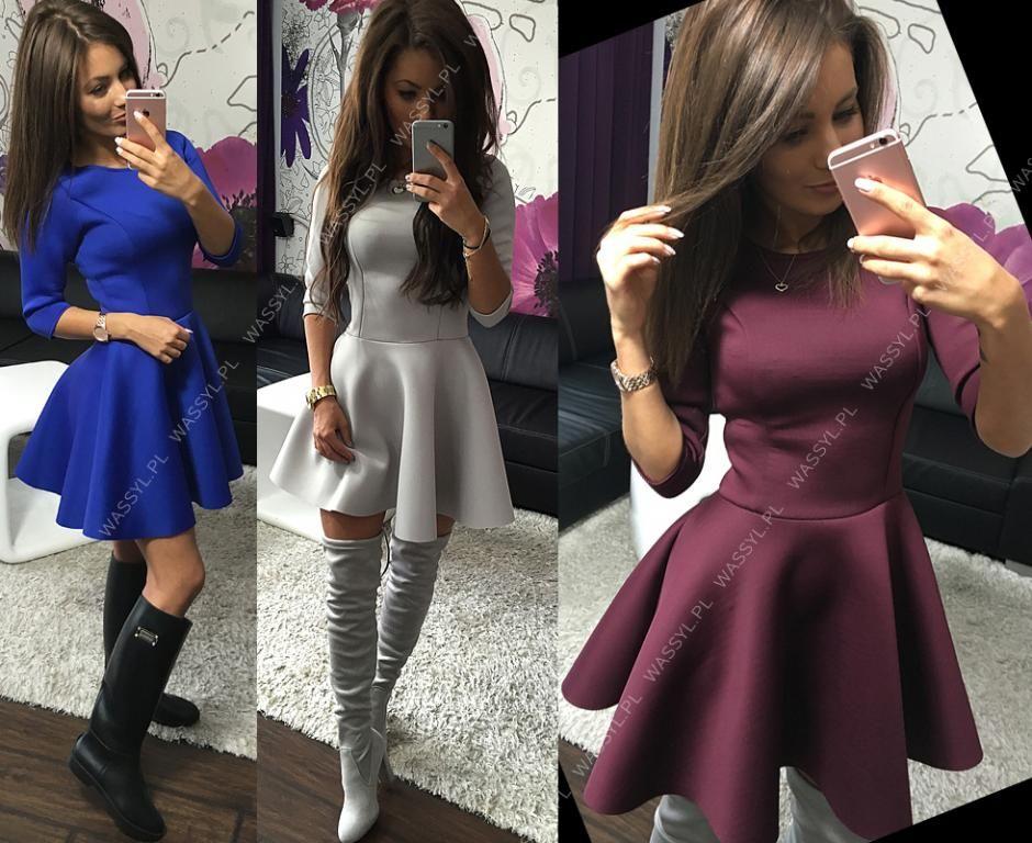 X60 Sukienka Z Pianki Rozkloszowana Z Kola Xs S 5713001566 Oficjalne Archiwum Allegro Dresses With Sleeves Fashion Graduation Dress