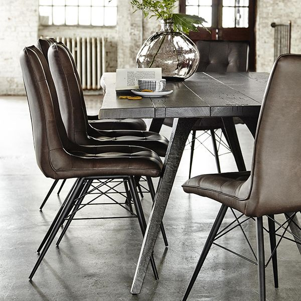 Hix Dining Chair Brown Chairs Room