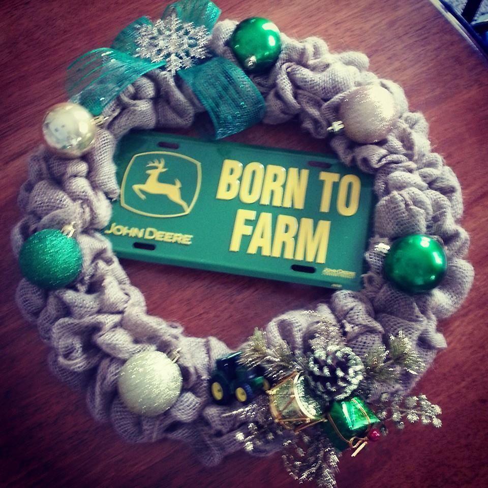 John Deere Christmas Wreath On Ebay Today!