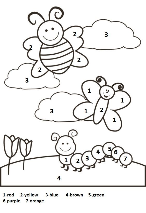 Spring worksheet for kids Spring coloring pages