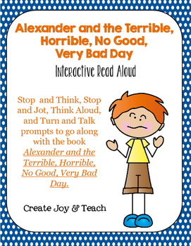 Alexander And The Terrible Horrible No Good Very Bad Day Read