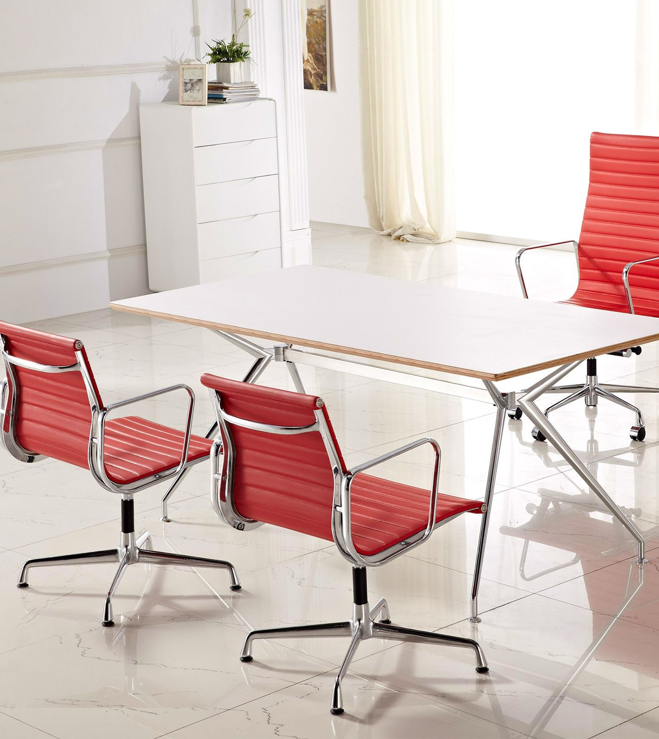 Office desk table and replica designer chairs in various ...