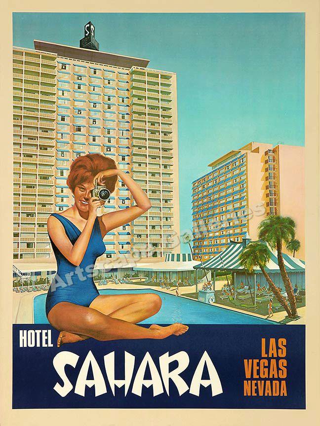 Las Vegas Sahara Hotel #travel #poster (1960s)