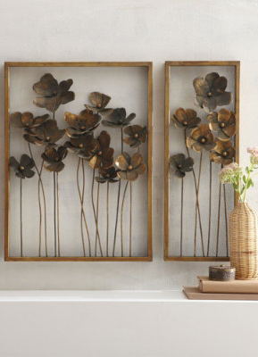 Botanical Metal Wall Art All For The Wall Outdoor