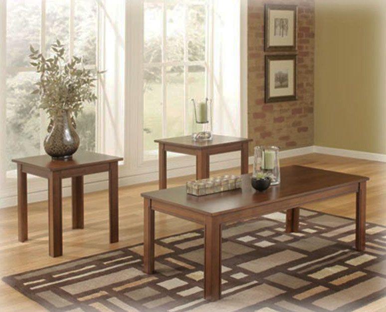 Ensemble De Table 3 Mcx New As Is Meubles Neufs Ou Legerement Endommages Modern Table Design Upholstered Ottoman Coffee Table Furniture