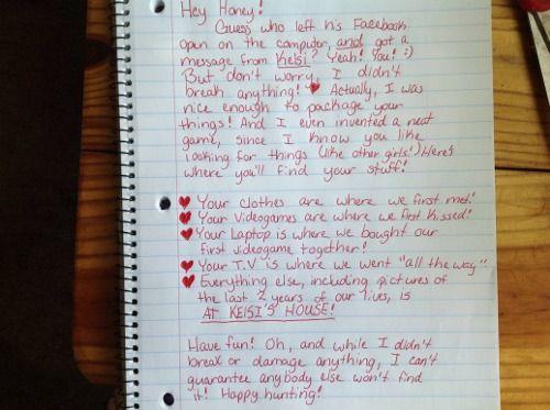 A Revenge Letter To A Cheating Boyfriend Funny Stuff Pinterest