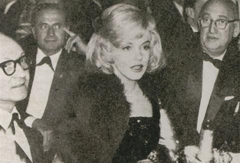 Marilyn Monroe at the Actor's Studio Benefit, Roseland Dance Hall, NYC, March 13th 1961
