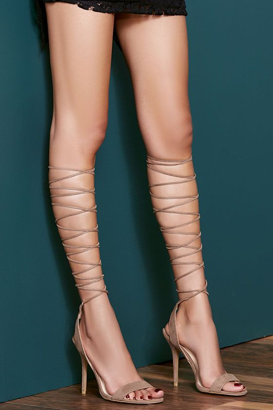 Lace Up The Leg Heels