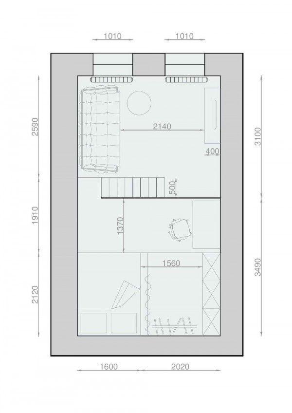 Exceptionnel 2 Apartments Under 30 Square Metre U2013 One Light, One Dark