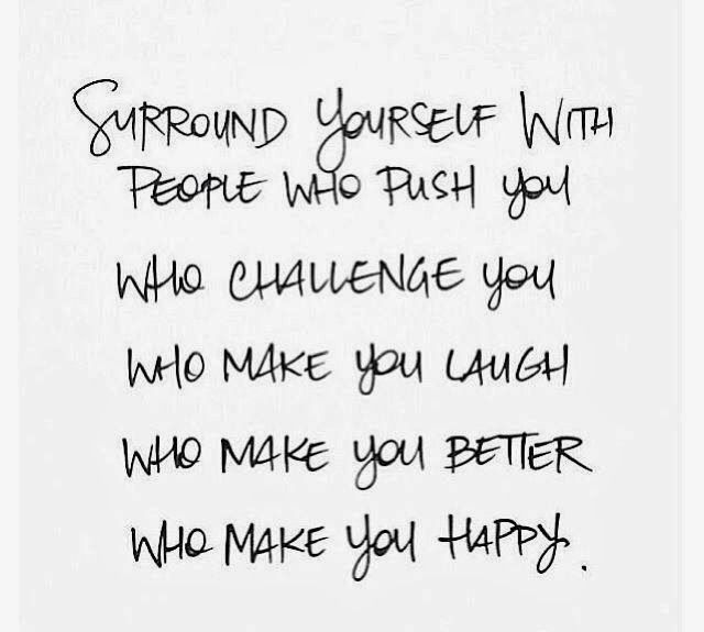 Surround Yourself Quotes Inspirational Quotes: Surround yourself with people who push you  Surround Yourself Quotes