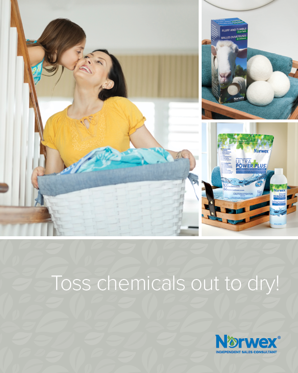 Do laundry without the use of harsh chemicals! This UPP detergent is AMAZING! 1 teaspoon is all it takes for a full load of laundry in a HE washer! SO EFFECTIVE! The dryer balls are an amazing alternative to chemical-filled dryer sheets and last so long. The stain remover gets out any stubborn stains!