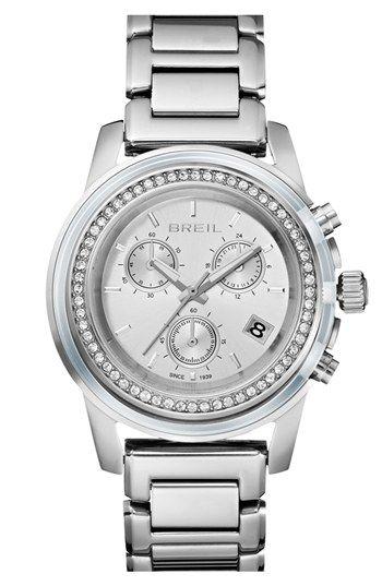 Breil 'Orchestra' Crystal Bezel Chronograph Bracelet Watch, 37mm