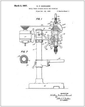 tattoo machine wiring diagram one line electrical riser walker turner drill press patent | images: technical & drawings pinterest ...