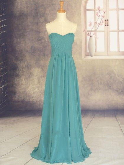 Sweetheart Chiffon Sweep Train Ruffles Wholesale Bridesmaid Dresses - dressesofgirl.com