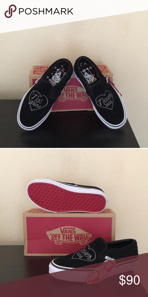 b1d95fd211 Vans Valentines Not Yours Slip-on Valentines edition