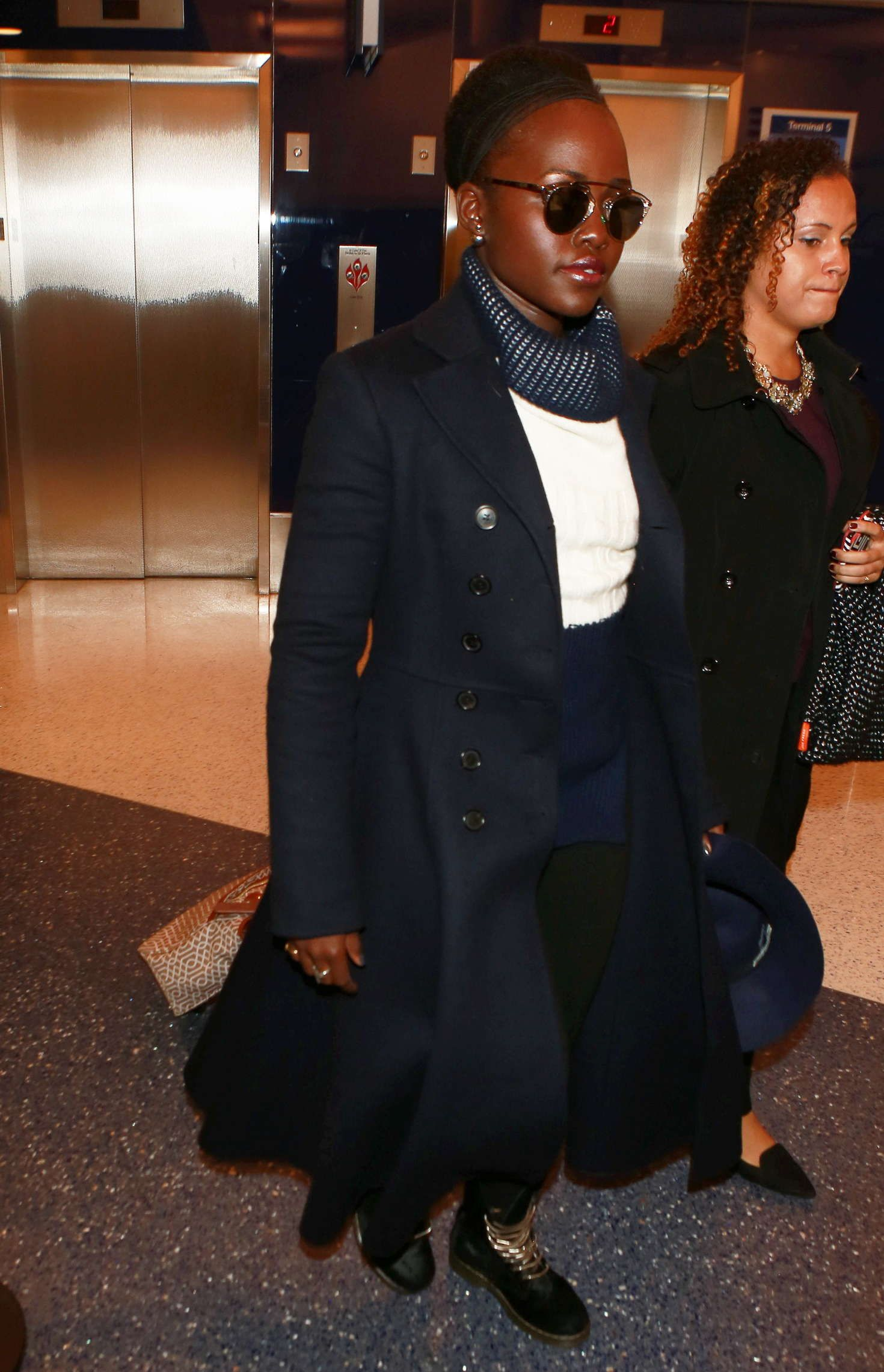 Lupita Nyongo: Arriving at LAX Airport
