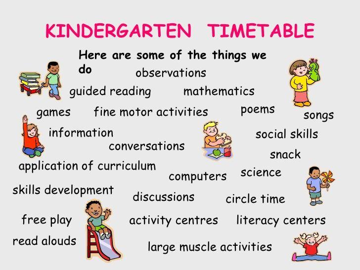 Image result for kindergarten timetable | Interesting Ideas | Pinterest
