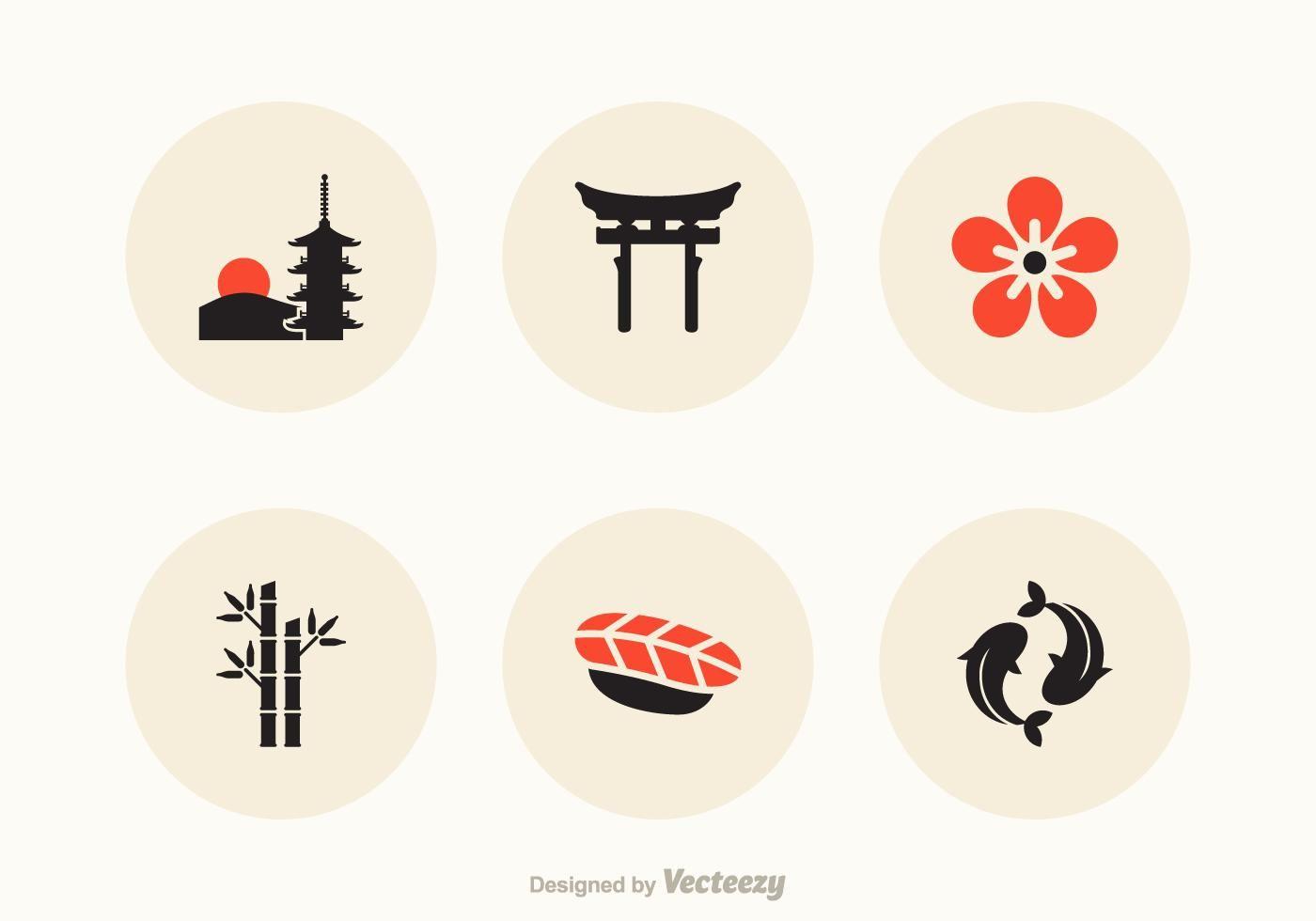 Free Japan Vector Icons Vector Art Design Japan Icon Vector Art
