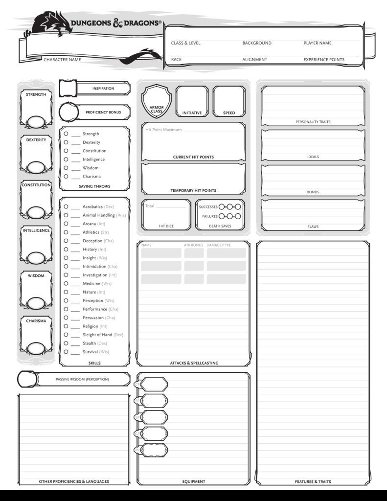 Creating A D D 5e Character For Beginners With Images