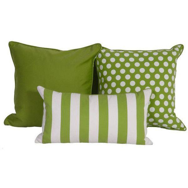 Green U0026 White Throw Pillows In Sunbrella   $675 Est. Retail.