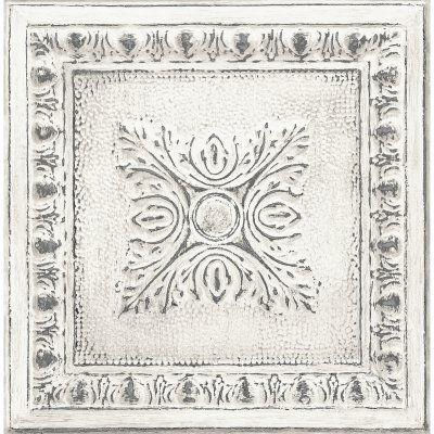 A-Street Prints Ornamental Tin Tile Wallpaper Off-White - 2540-24031