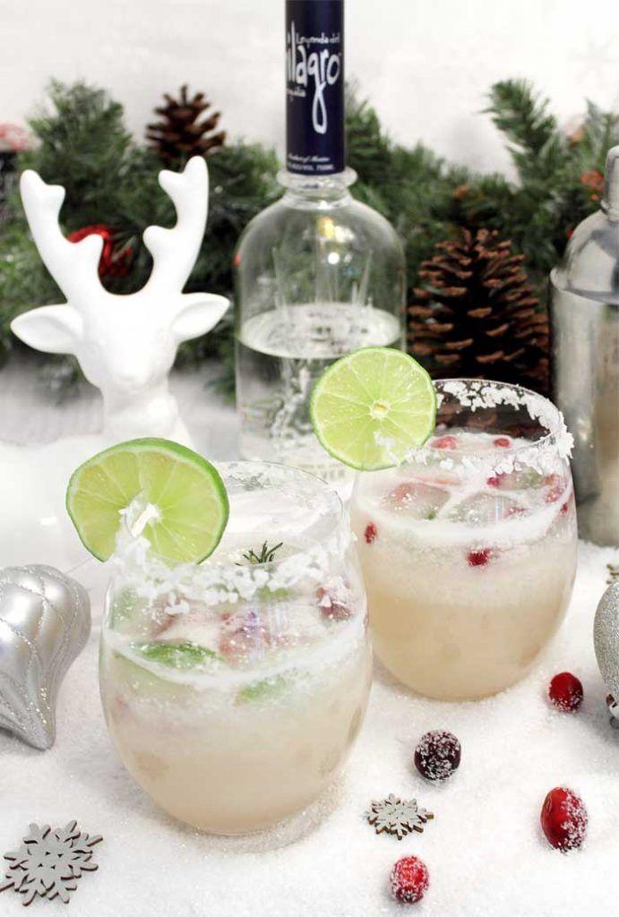 White Christmas Margarita #christmasmargarita