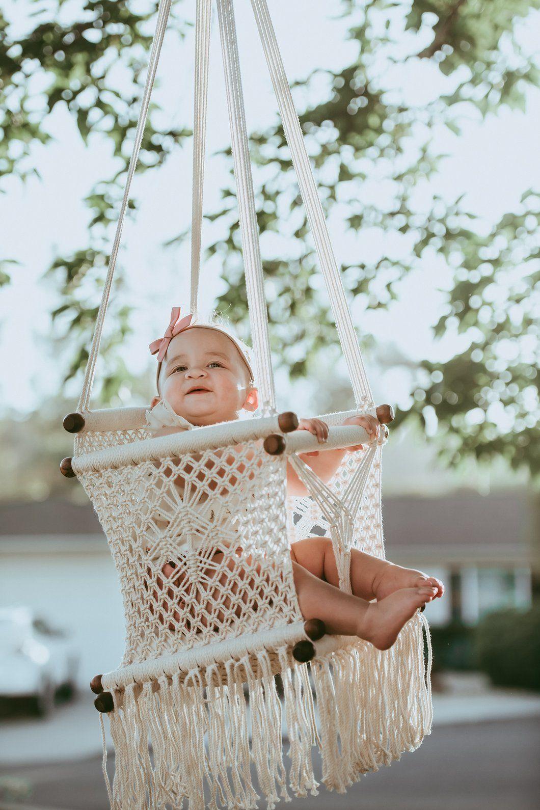 Macramé Baby Swing Handmade in Nicaragua in 2020 Baby