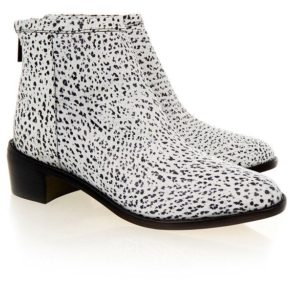 0e1a393503b1 Loeffler Randall Felix white Black Spotted Ankle Boot ( 170) ❤ liked on  Polyvore featuring shoes