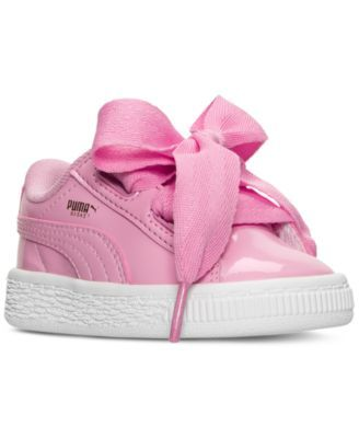 Puma Toddler Girls' Basket Heart Patent Casual Sneakers from ...