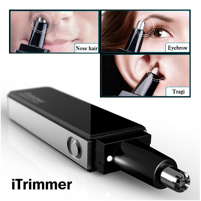 Pritech professionale water resistant naso e orecchie capelli trimmer con luce led design ultra moderno