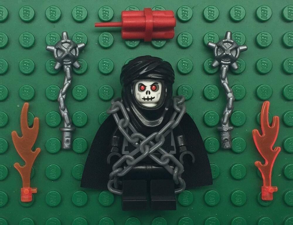 army castle fortnite skull trooper Lego Skeleton Ghost Warrior Minifig Lot