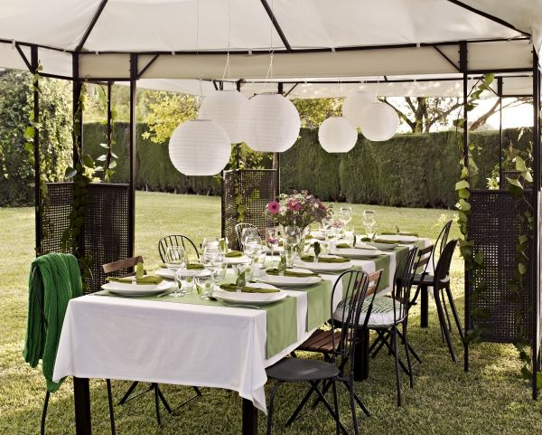 Make your backyard wedding beautiful -- and protected from the elements with an IKEA outdoor & Make your backyard wedding beautiful -- and protected from the ...