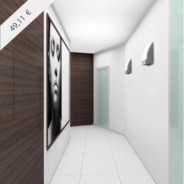 NIZA | Aplique de pared moderno de interior diseñado por Leds C4. Acabado en cromo. + info y venta en: http://www.luzambiente.com/iluminacion/pared/aplique-niza.html
