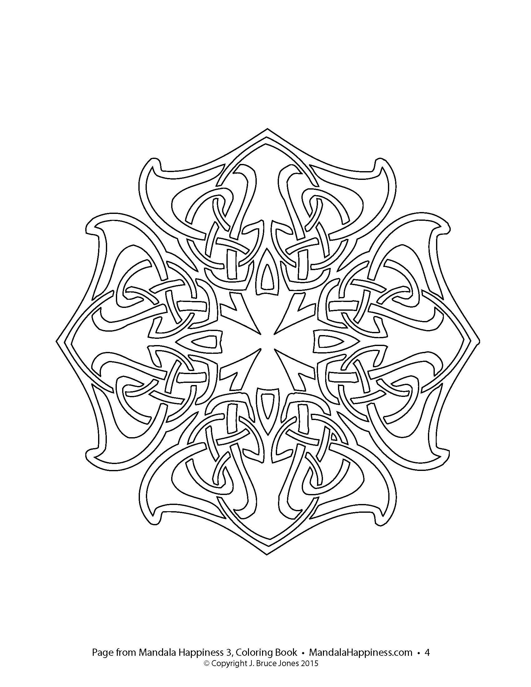 Amazon Mandala Happiness 3 Celtic Designs Coloring Book Volume 9781514180204 J Bruce Jones Books