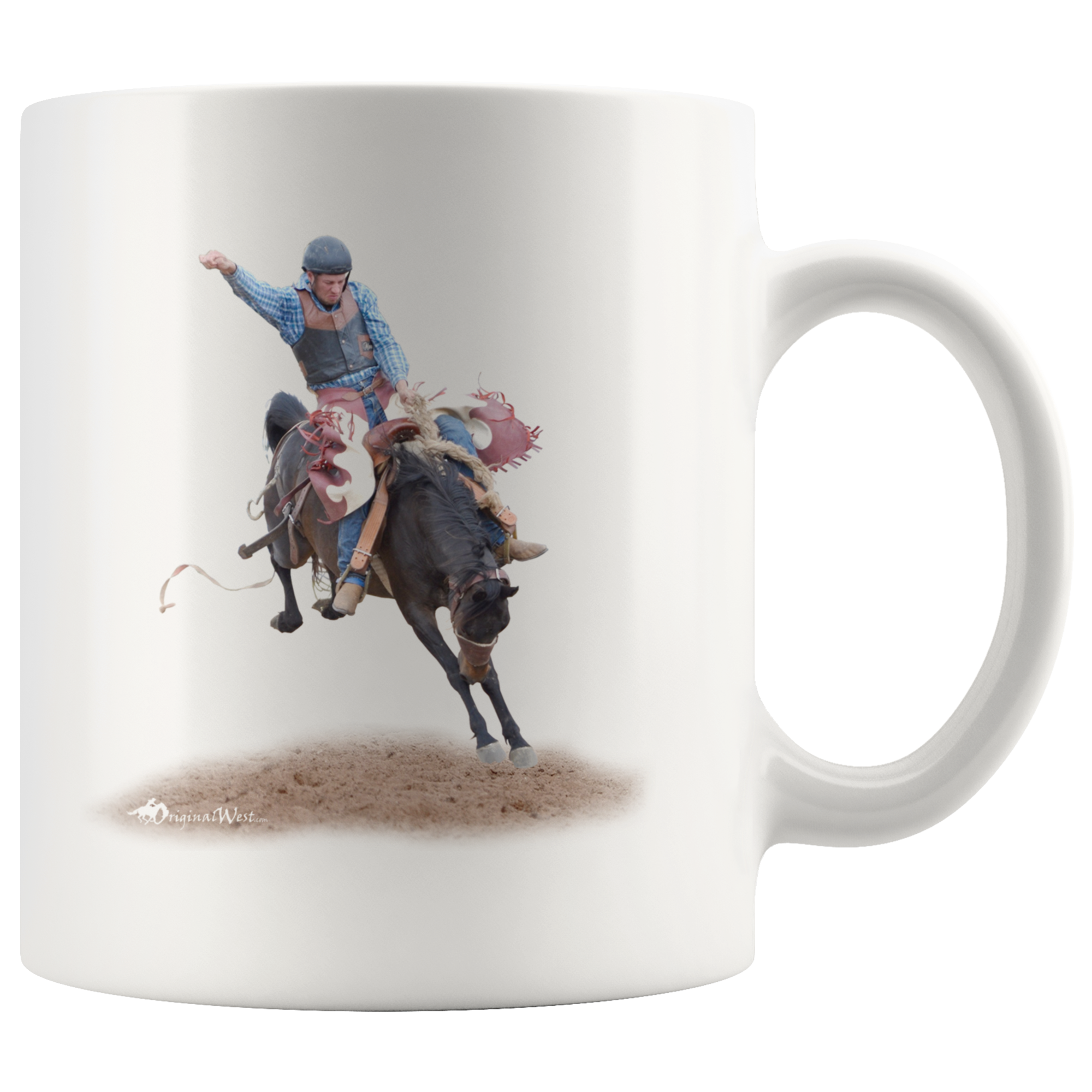 Wild Saddle Bronc White Coffee Mug White coffee mugs