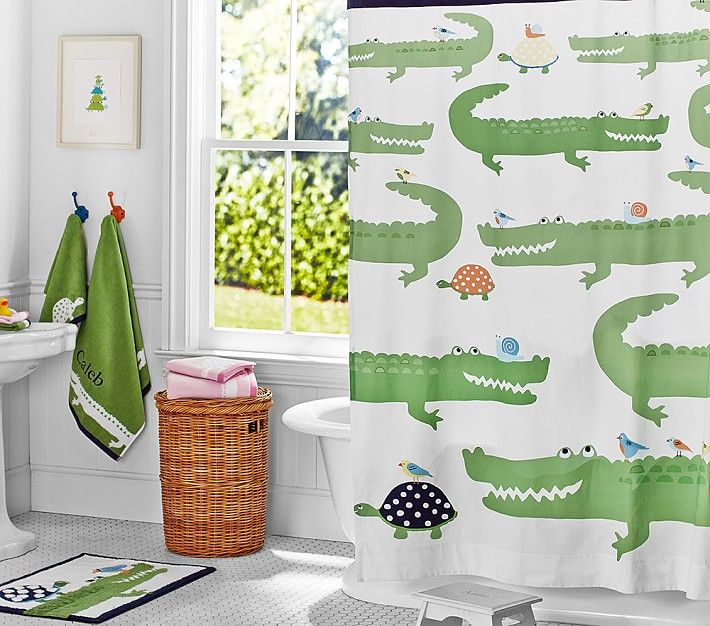 Alligator Shower Curtain Kids Bathroom Sets Bathroom Kids Baby